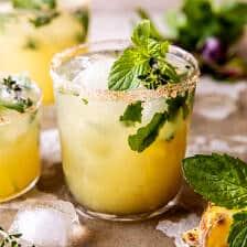 Spicy Serrano Pineapple Margarita | halfbakedharvest.com