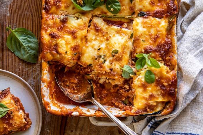 Spicy Zucchini Ricotta Lasagna with Oregano Breadcrumbs | halfbakedharvest.com