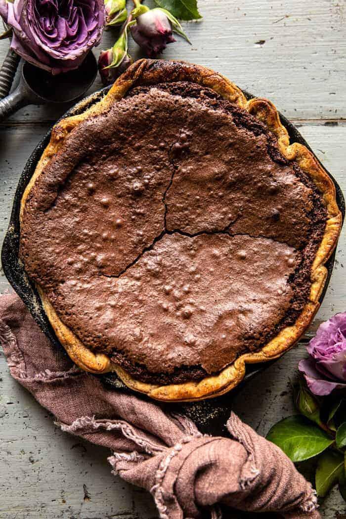 Warm Chocolate Fudge Skillet Cake | halfbakedharvest.com