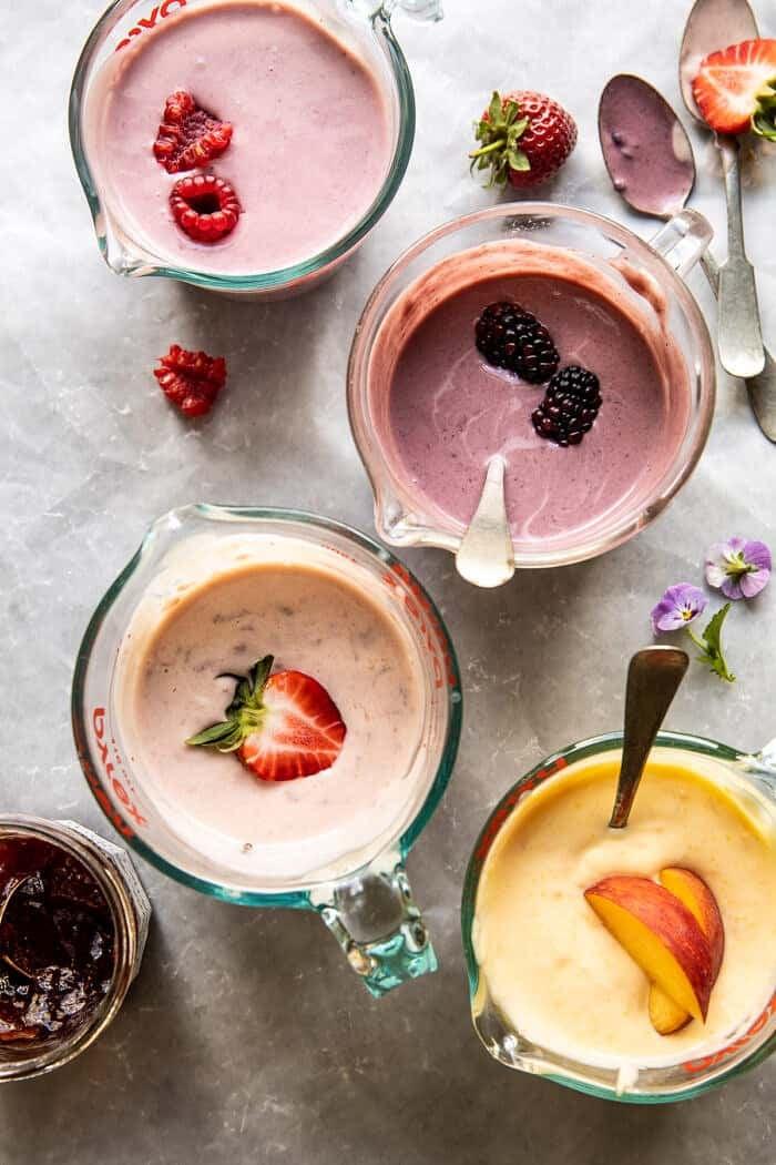4 Ingredient Creamy Fruit Popsicles | halfbakedharvest.com
