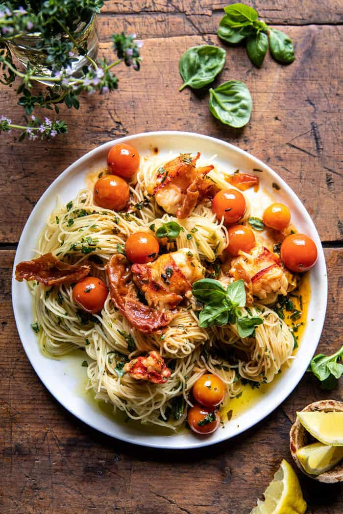 Brown Butter Lobster Pasta with Burst Cherry Tomatoes | halfbakedharvest.com