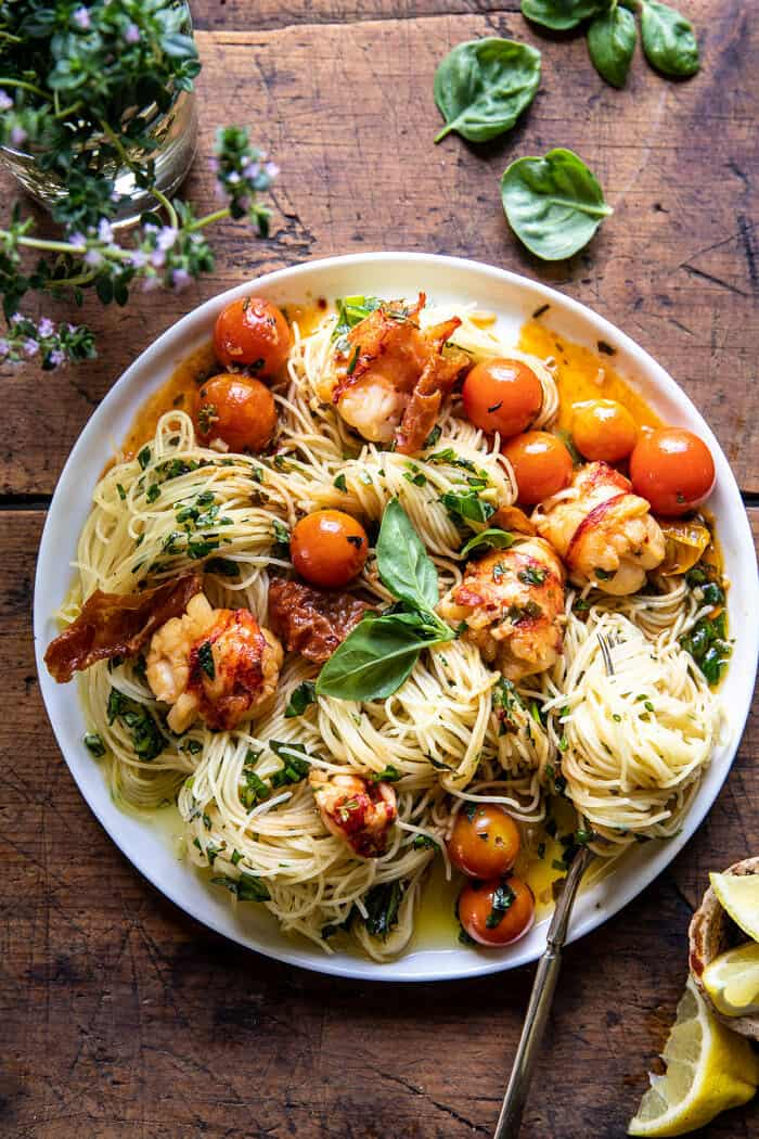 Brown Butter Lobster Pasta with Burst Cherry Tomatoes   halfbakedharvest.com