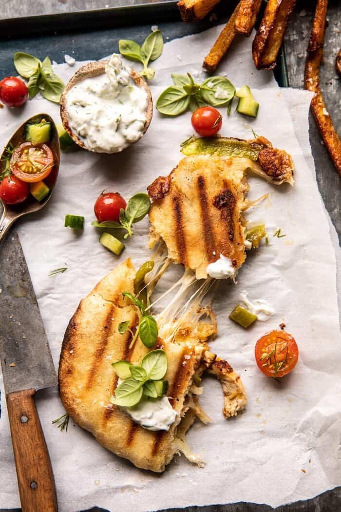 Panini Style Chicken Gyros | halfbakedharvest.com