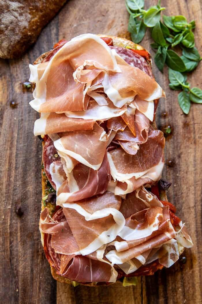 Picnic Style Brie and Prosciutto Sandwich | halfbakedharvest.com