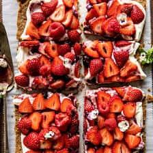Simple Strawberry and Cream Rye Pretzel Tart   halfbakedharvest.com