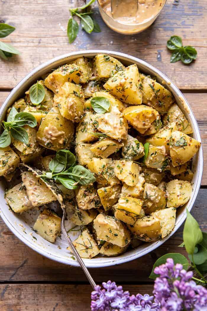 The Best Simple Vegan Potato Salad | halfbakedharvest.com