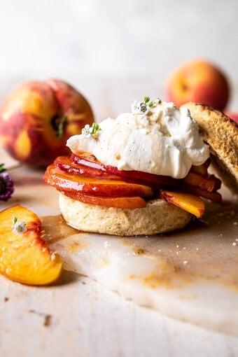 Brown Sugar Peach Shortcakes | halfbakedharvest.com
