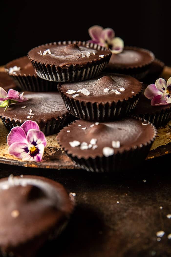 Frozen Chocolate Peanut Butter Cups | halfbakedharvest.com