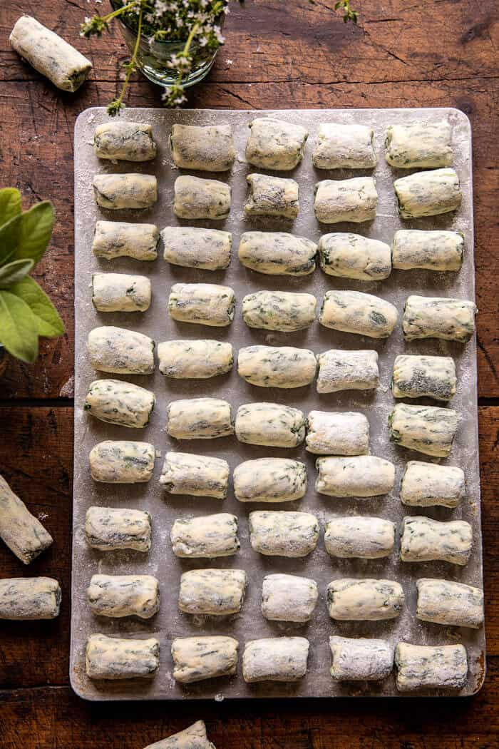 Spinach Ricotta Gnocchi with Sage Butter and Cherry Tomatoes | halfbakedharvest.com