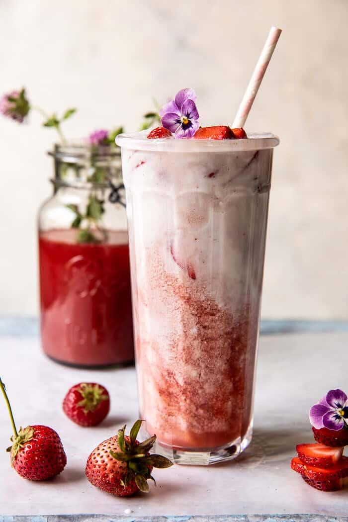 Strawberry Pink Drink | halfbakedharvest.com