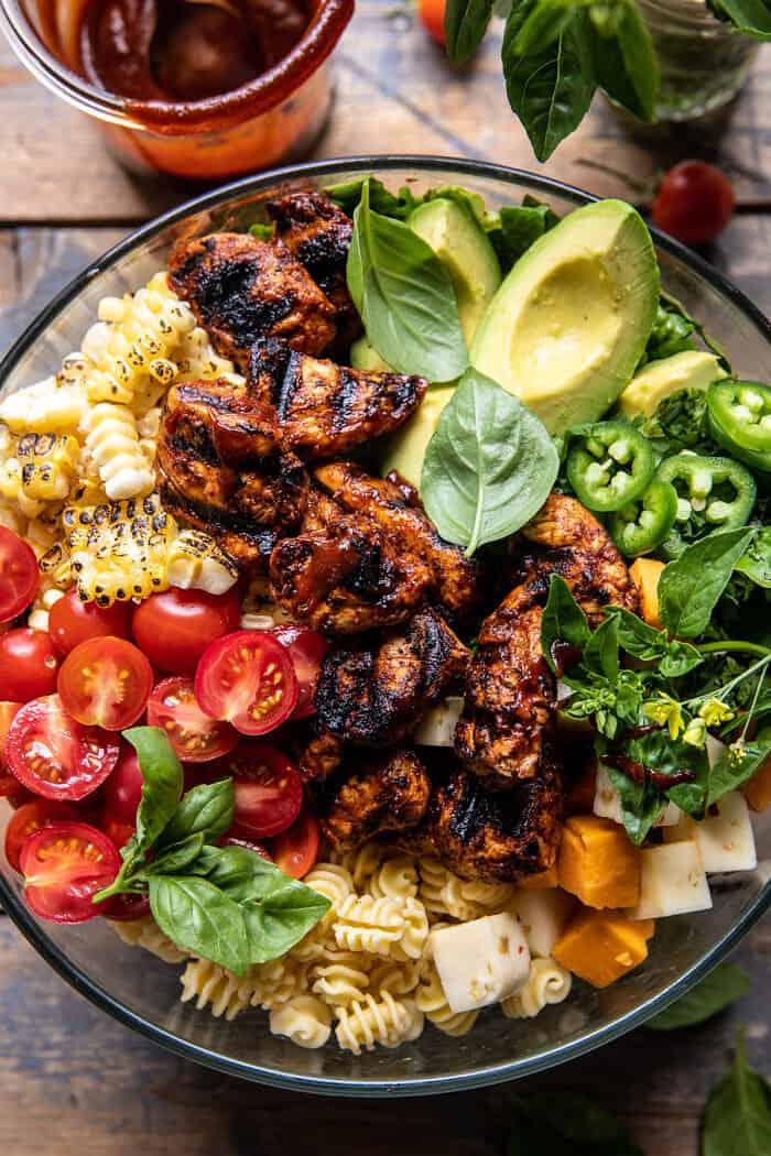 BBQ Chicken Ranch Pasta Salad | halfbakedharvest.com