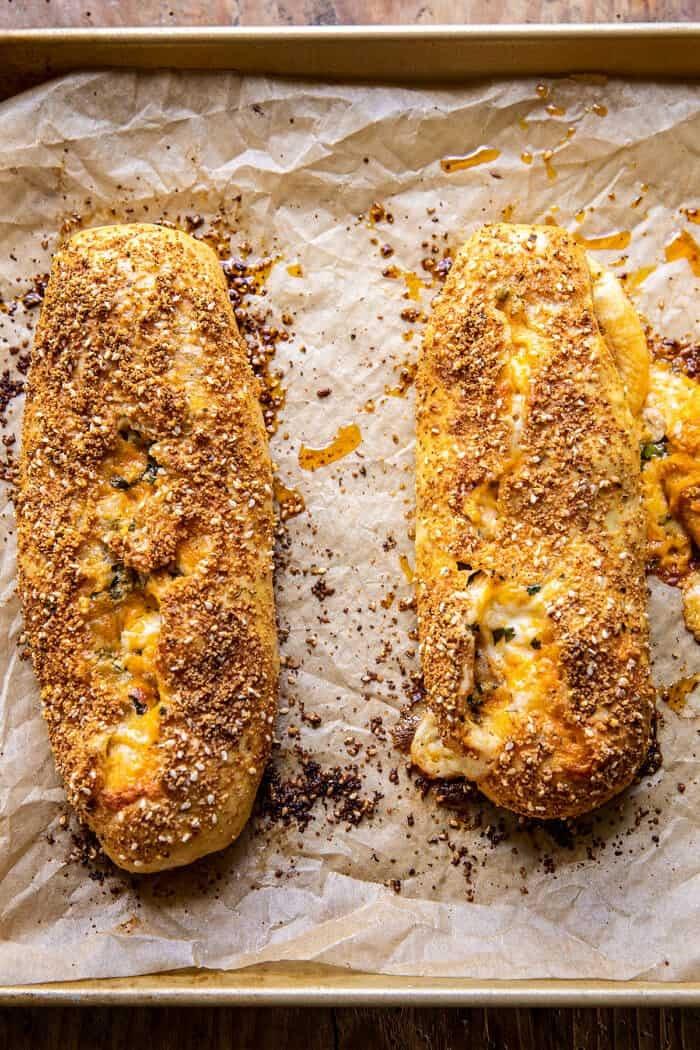 Cheesy Buffalo Chicken Strombolis | halfbakedharvest.com
