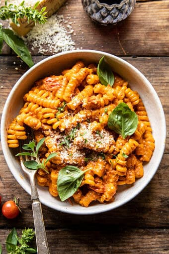 Cherry Tomato Pasta Alla Vodka | halfbakedharvest.com