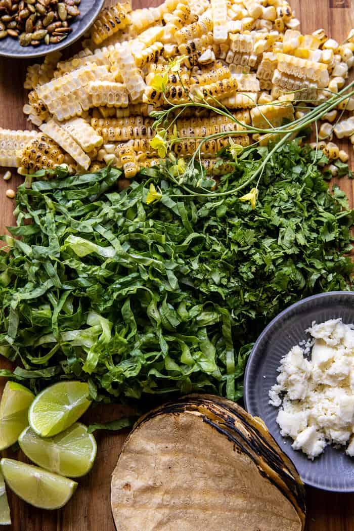 Chipotle Cauliflower Tacos with Creamy Jalapeño Verde   halfbakedharvest.com