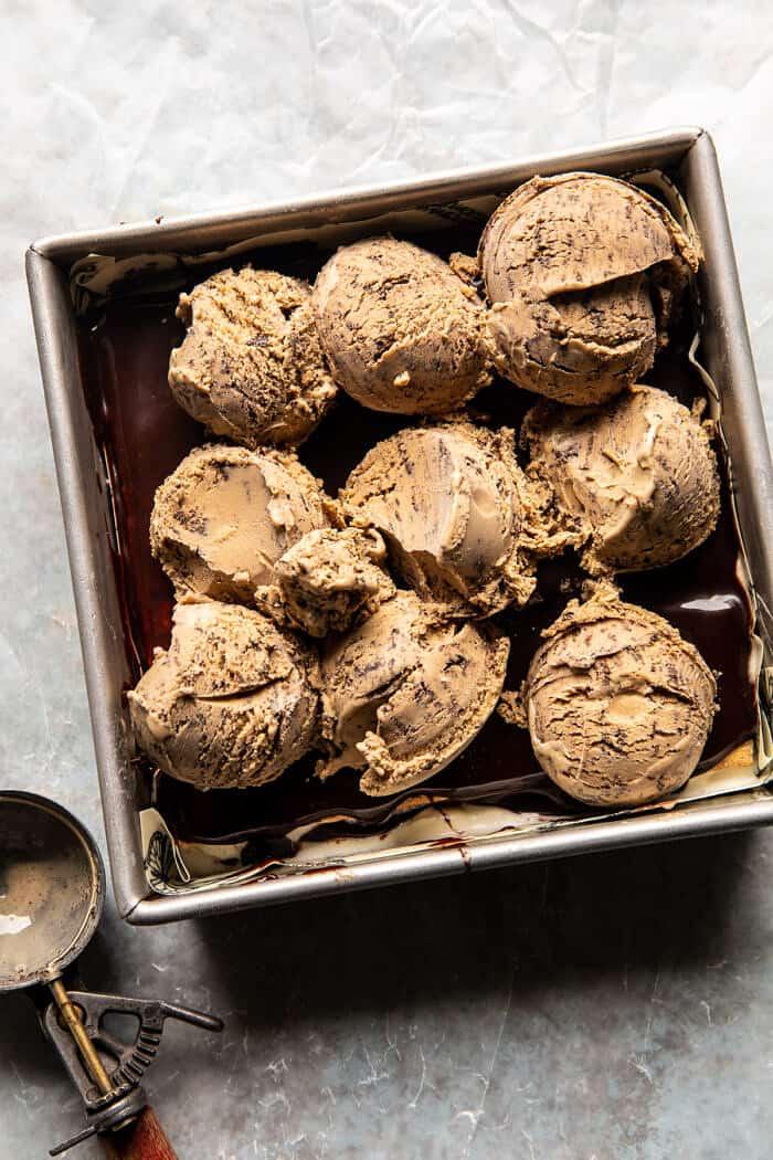 Coffee and Fudge Ice Cream Cake | halfbakedharvest.com