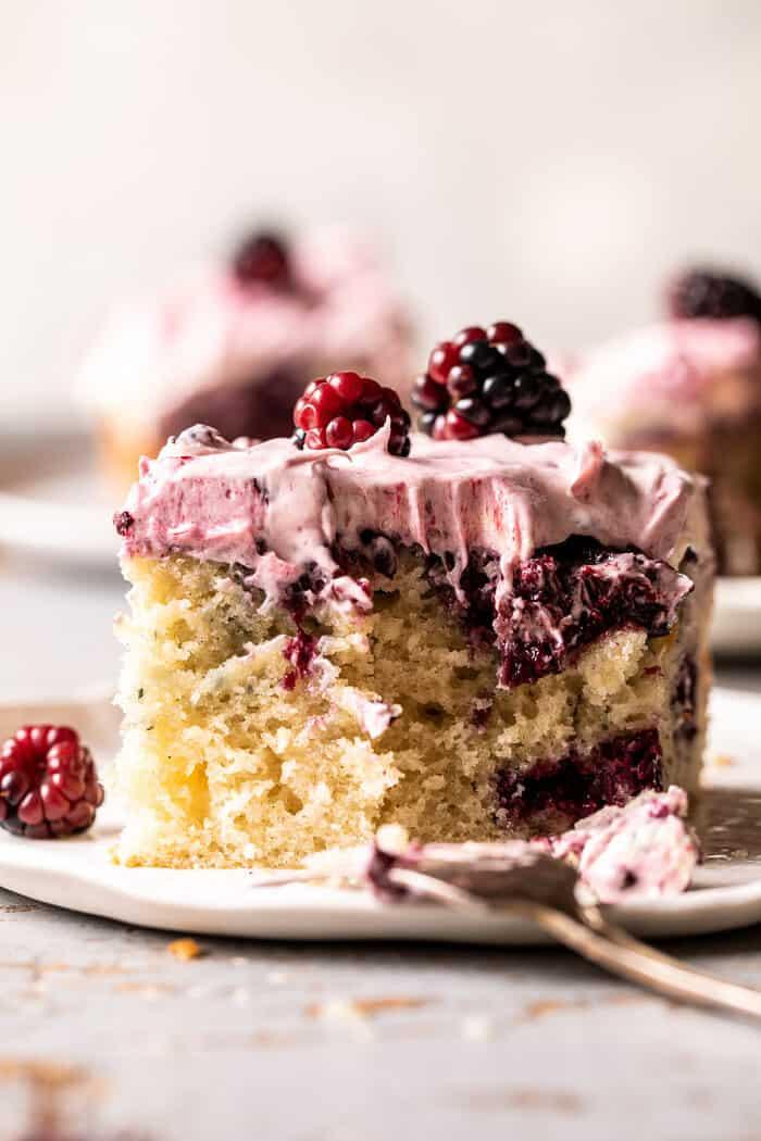 Swirled Blackberry Lavender Sheet Cake | halfbakedharvest.com