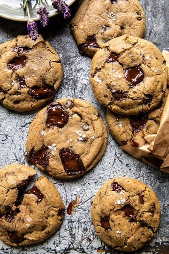 Vegan Double Chocolate Chunk Cookies | halfbakedharvest.com