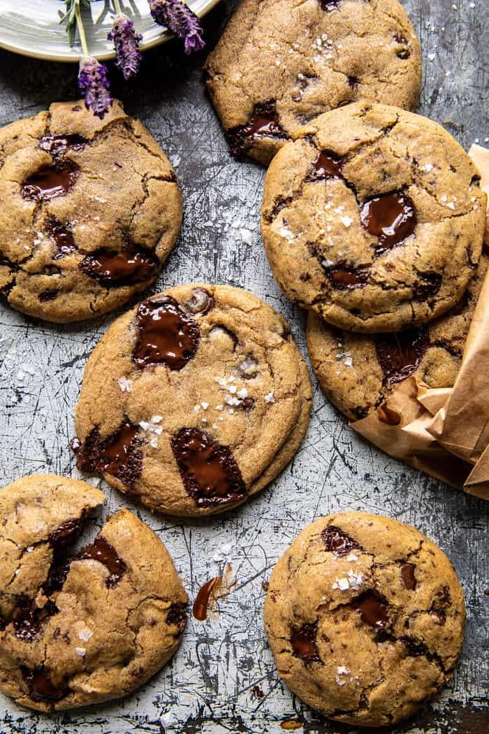 Vegan Double Chocolate Chunk Cookies.