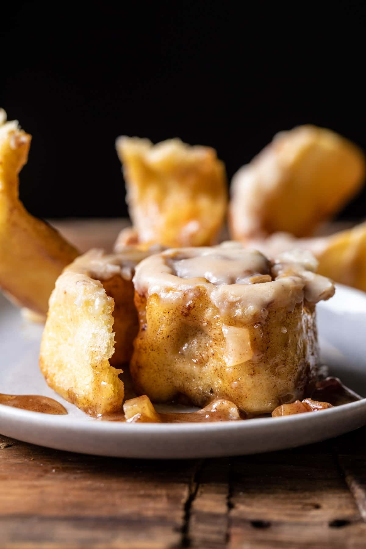 Apple Cinnamon Rolls with Brown Butter Maple Icing | halfbakedharvest.com