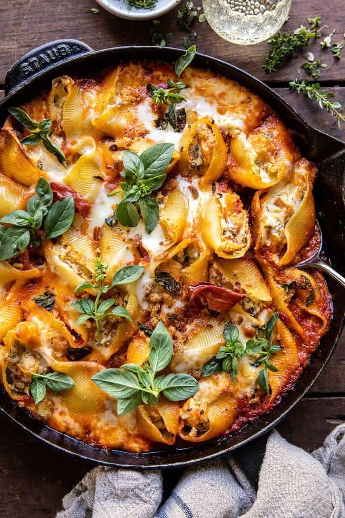 Butternut Squash and Cheese Stuffed Pasta Shells | halfbakedharvest.com