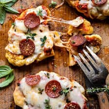 Easy Baked Cheesy Cauliflower Pizzas   halfbakedharvest.com