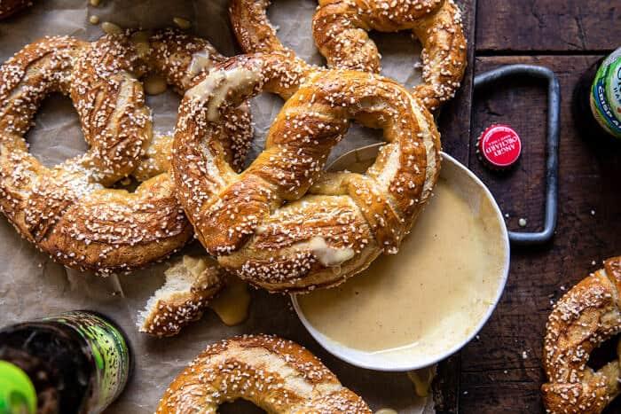 Hard Cider Pretzels with Creamy Honey Mustard | halfbakedharvest.com