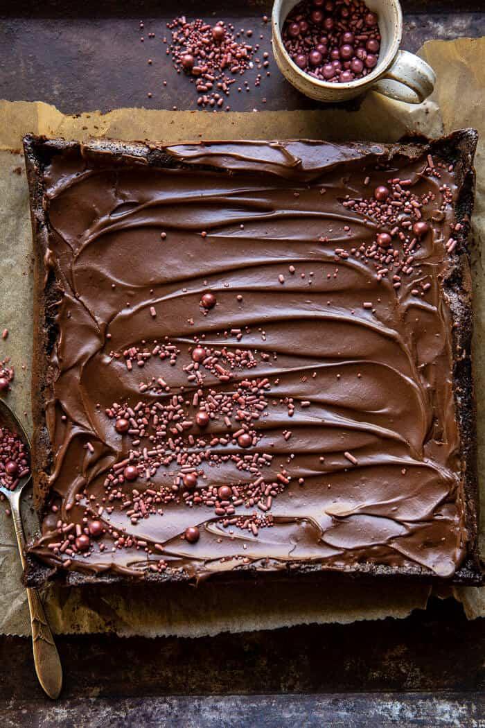Old Fashioned Iced Fudge Brownies | halfbakedharvest.com