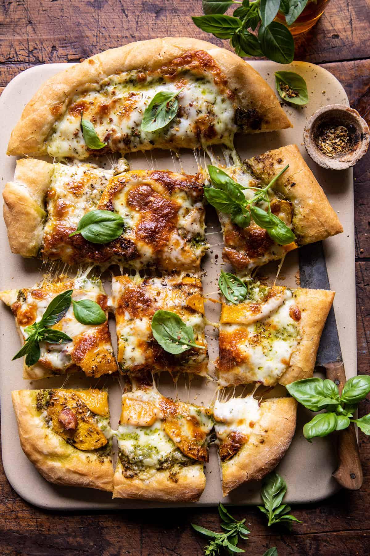 Rosemary Roasted Butternut Squash Pizza | halfbakedharvest.com