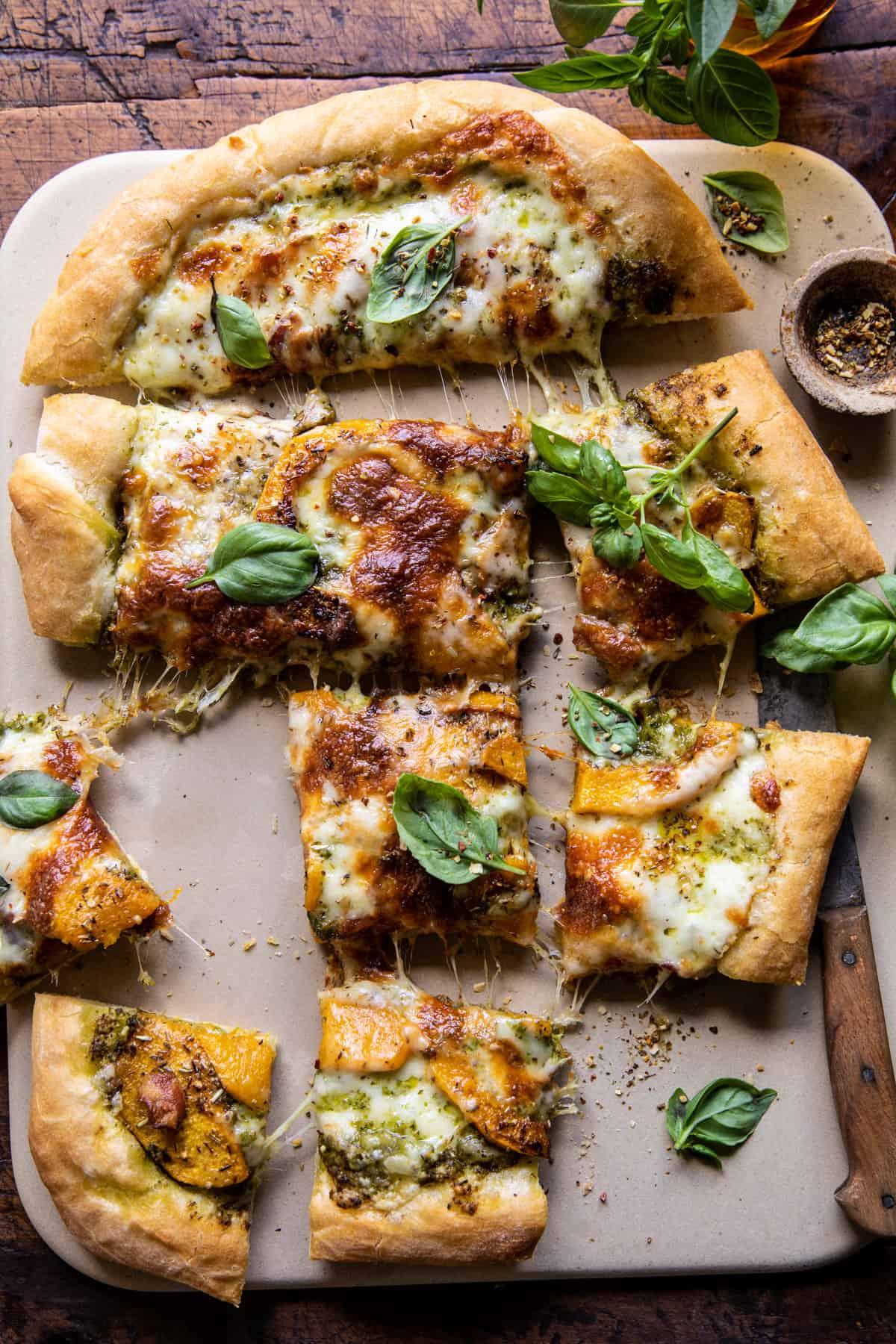 Rosemary Roasted Butternut Squash Pizza   halfbakedharvest.com