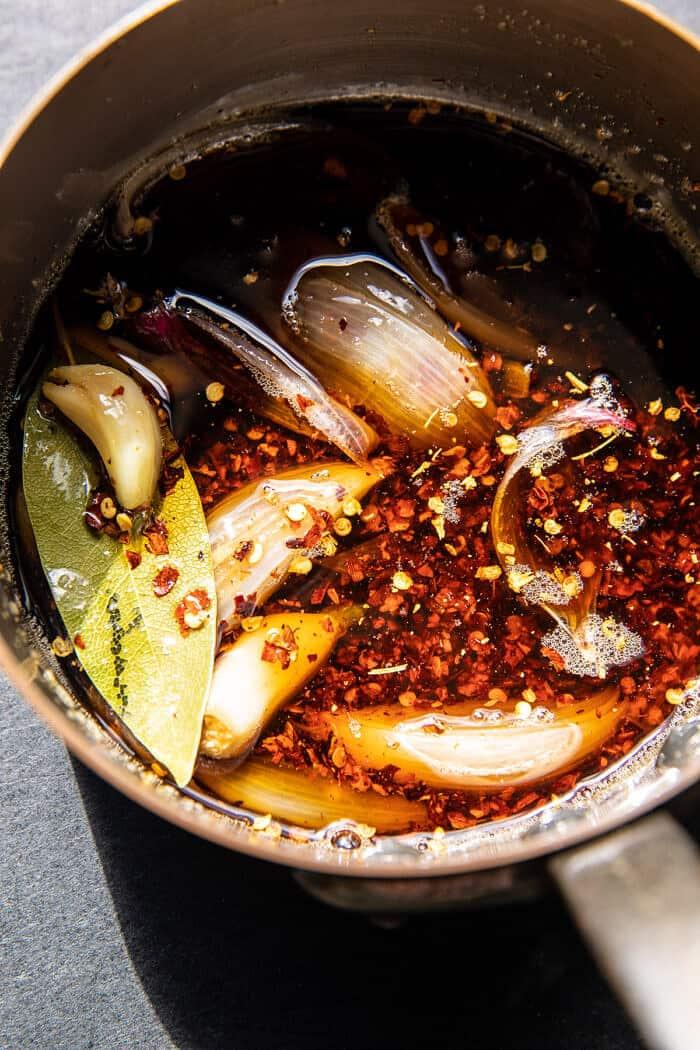 Sesame Ginger Dumplings in Chili Oil | halfbakedharvest.com