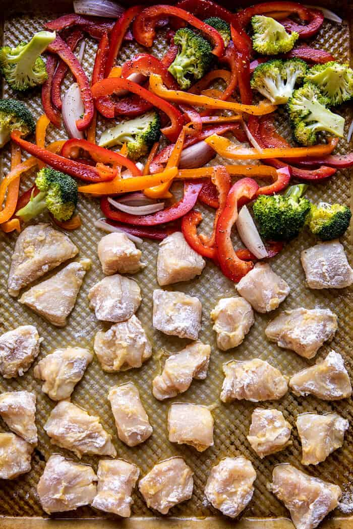 Sheet Pan Sticky Sweet and Sour Chicken | halfbakedharvest.com