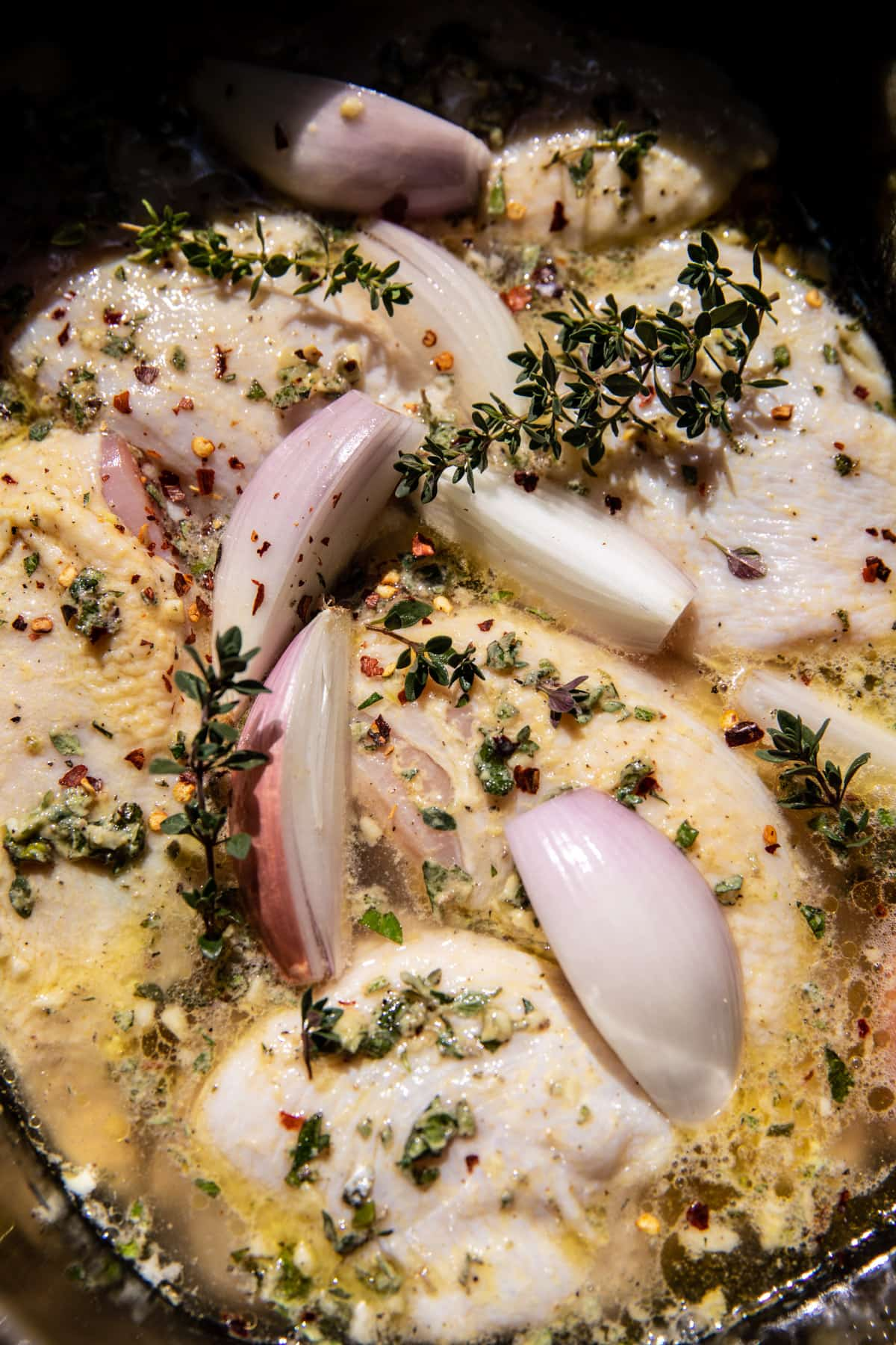Slow Cooker Mustard Herb Chicken and Creamy Orzo | halfbakedharvest.com