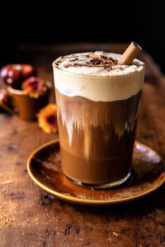 Vanilla Chai Pumpkin Cream Cold Brew | halfbakedhavrest.com