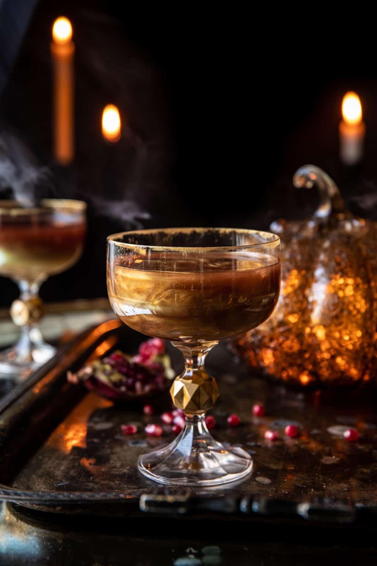 I put a Spell on You Poison Apple Martini | halfbakedharvest.com