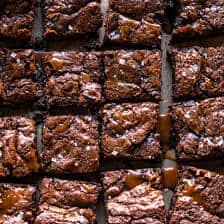 Caramel Mocha Nutella Brownies | halfbakedharvest.com