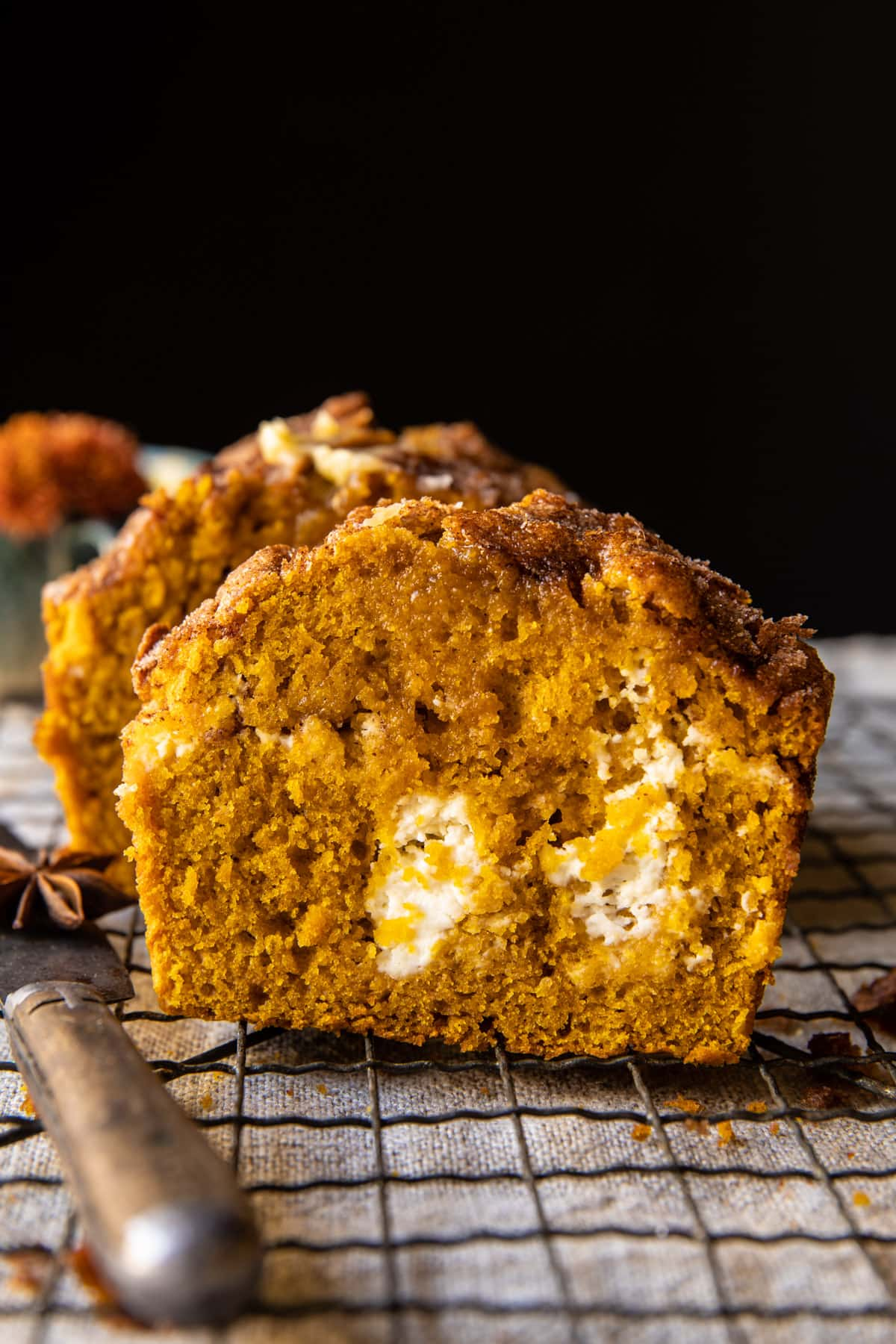 Cream Cheese Swirled Cinnamon Pumpkin Butter Bread | halfbakedharvest.com