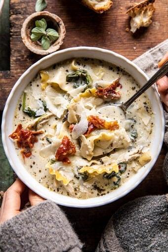 Creamy White Lasagna Soup | halfbakedharvest.com