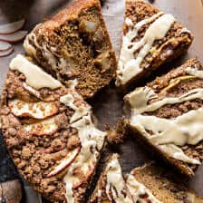 Salted Bourbon Apple Crumble Coffee Cake | halfbakedharvest.com